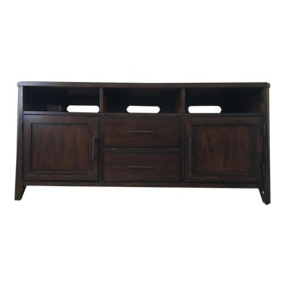 Contemporary Laminate Wood Entertainment Console
