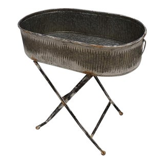Galvanized Industrial Rustic Tub