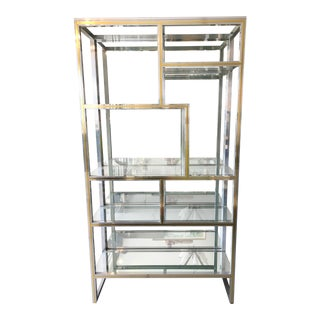 Chrome & Brass & Mirror Etagere