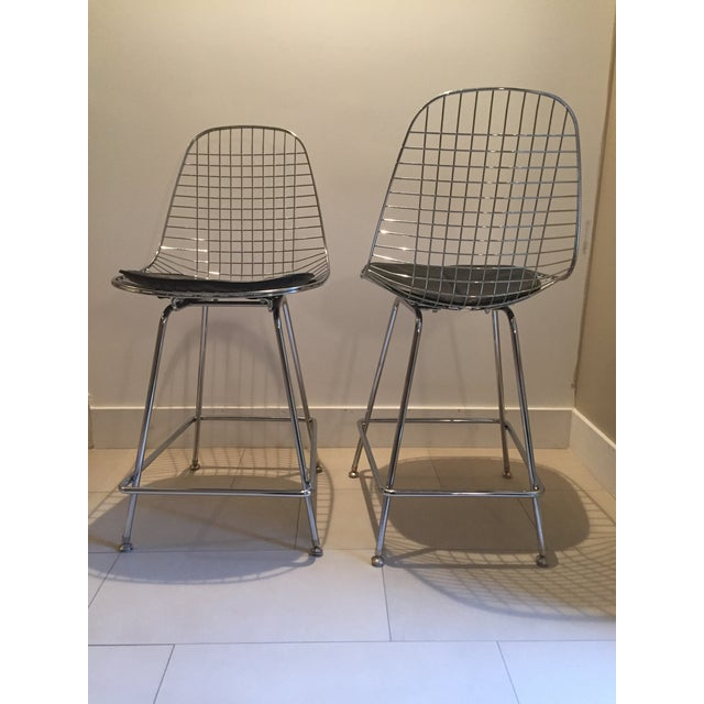 Modernica Counter Height Wire Stools - A Pair - Image 2 of 7