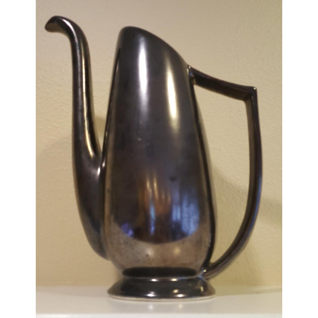 Mid-Century Modern Black Pitcher - Image 8 of 8