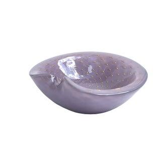 Vintage Italian Lavender Purple Murano Art Glass Bowl