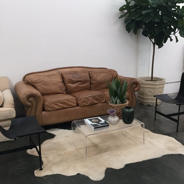 Custom Leather Sofa Chairish