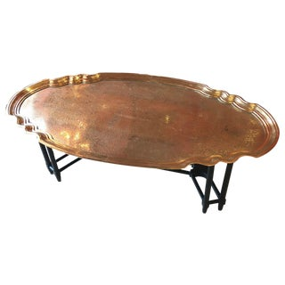 Vintage Baker Brass Tray Coffee Table