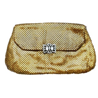 Whiting & Davis Gold Mesh Clutch Purse