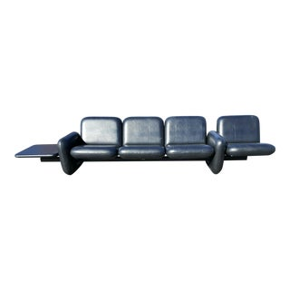 Ray Wilkes for Herman Miller Spaceage Chiclet Sofa in Black Leather