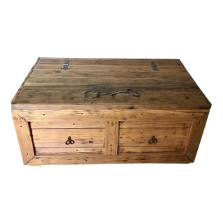 Rustic Coffee Table Trunk or Blanket Chest