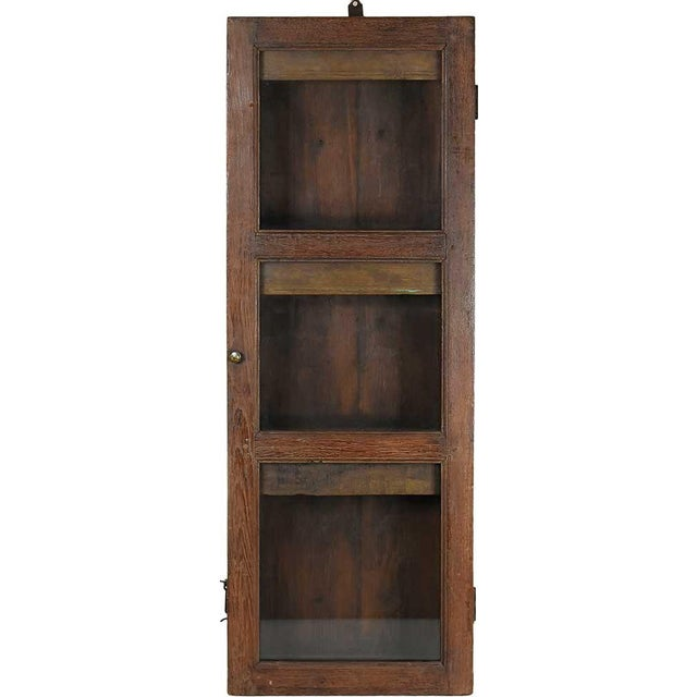 Image of Dark Wood Showcase Wall Cabinet