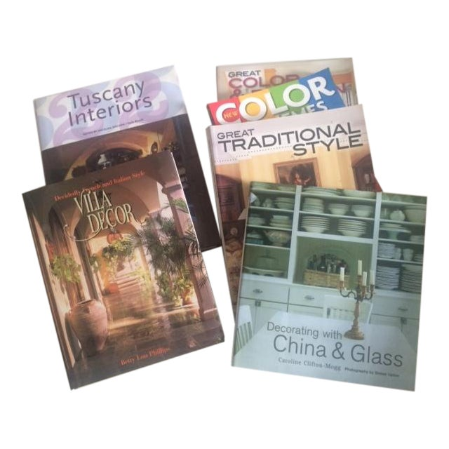 Italian Decorating Coffee Table Books - Set of 6 - Image 1 of 11