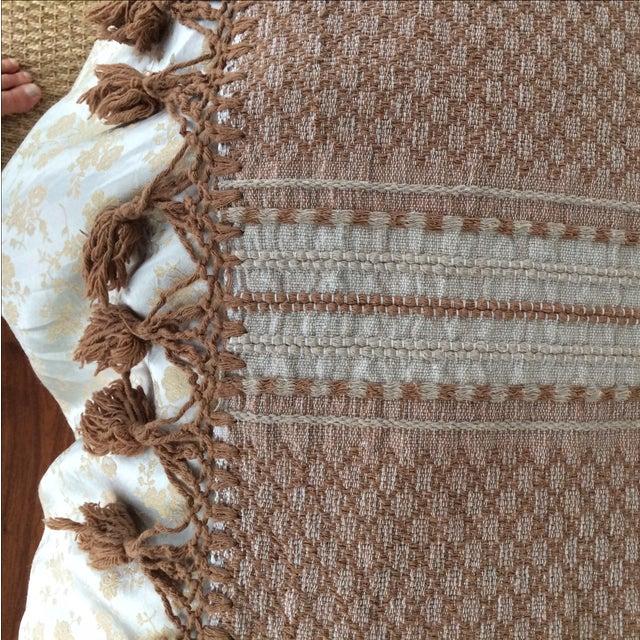 Brown Mexican Tassel Blanket/Throw - Image 4 of 6