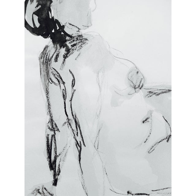 Image of Model in Charcoal Drawing by Martha Holden