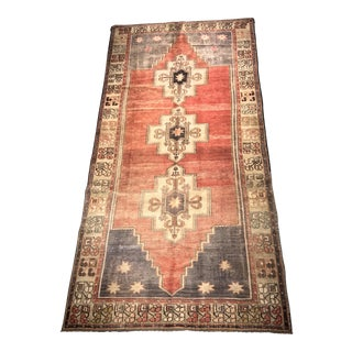 "Bellwether Rugs Vintage Turkish Oushak Runner - 4'4""x9'1"""