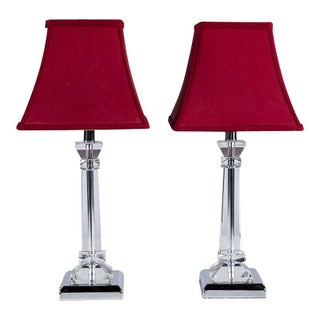 Glass Lamps - A Pair