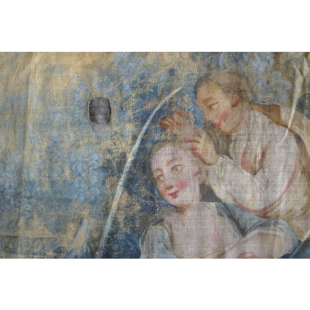 Large Rococo Wall Hanging Tapestry 19th Century - Image 5 of 10