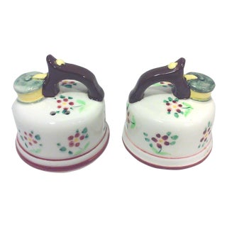 Japanese Ceramic Salt and Pepper Shakers - A Pair