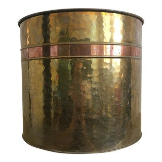 Hammered Brass Planter - Extra Large