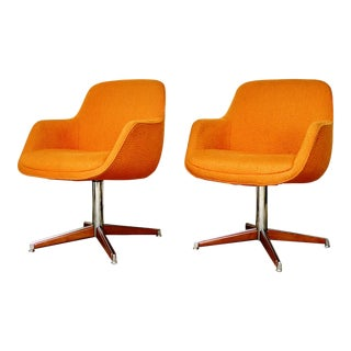 Vintage Steelcase Swivel Chairs - Pair