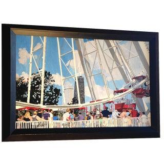 Navy Pier Acrylic Painting
