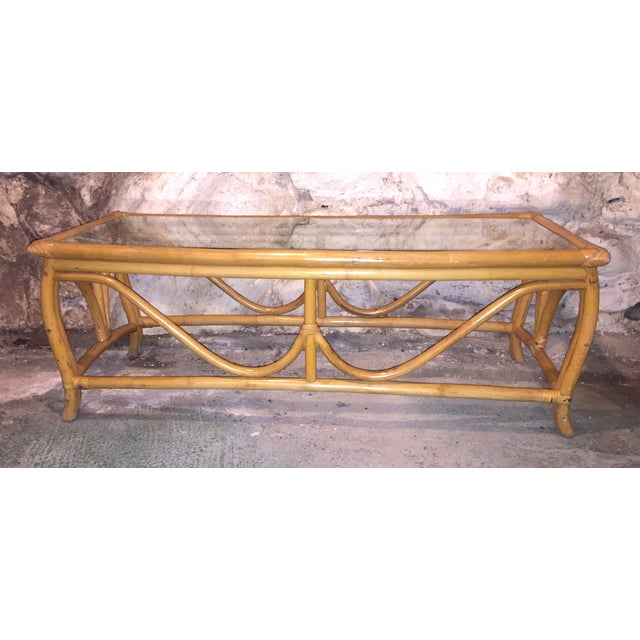 Vintage Bent Wood Rattan Coffee Table Chairish
