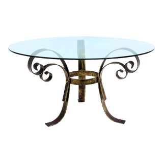1960s Wrought Iron Coffee Table