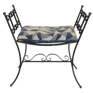 1960s Arthur Umanoff Style Iron Bench