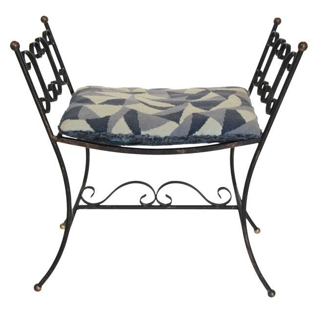 1960s Arthur Umanoff Style Iron Bench - Image 1 of 6