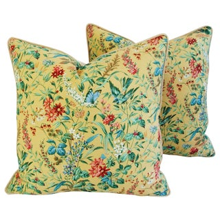 Custom English Springtime Garden Pillows - Pair