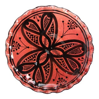 Moroccan Small Rose Red Hand Painted Plate