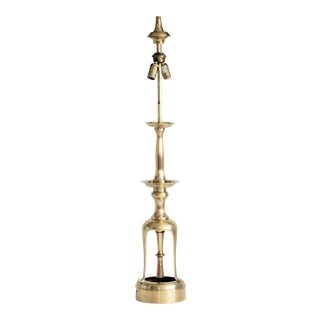Tall Brass Candlestick Lamp