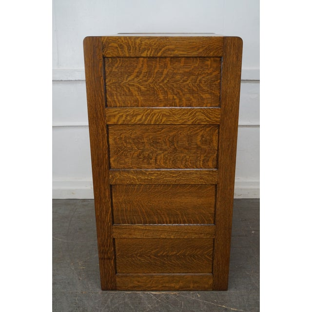 antique library bureau sole makers 8 drawer oak file cabinet chairish. Black Bedroom Furniture Sets. Home Design Ideas