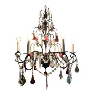 Dark Bronze Crystal Chandelier