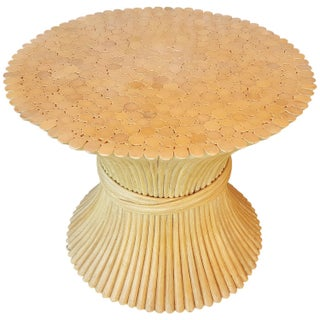 McGuire Bamboo Sheaf End Table