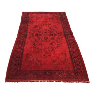 Red Overdyed Turkish Rug
