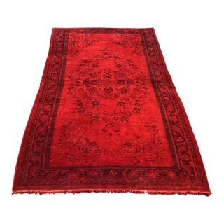 Red Overdyed Turkish Rug