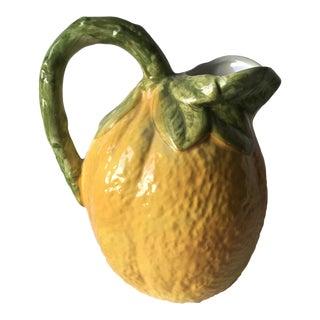 Vintage Italian Faience Lemon Pitcher