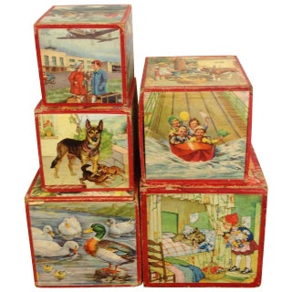 Vintage Preschool Nesting Blocks - Set of 5