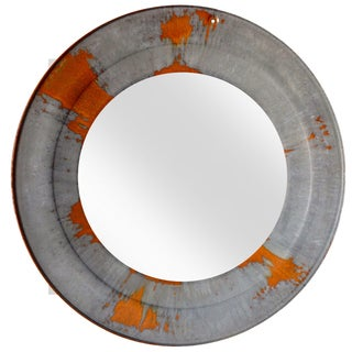Metal Circular Mirror - Made From Re-Purposed Chicken Brooder