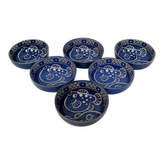 Blue Porcelain Bowls - Set of 6