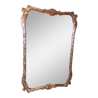 Distressed Gold Parlor Mirror