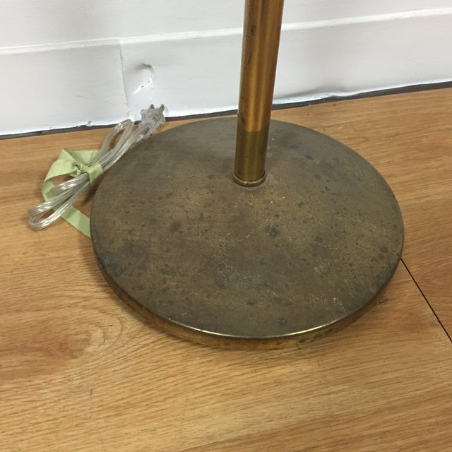 Image of Atomic Brass & Black Floor Lamp