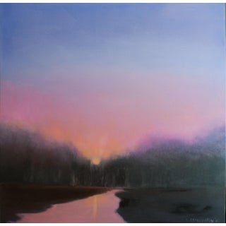 Evening Sunset Original Oil Painting