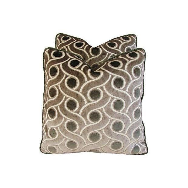 Osborne & Little Cut Velvet Pillows- A Pair - Image 3 of 7