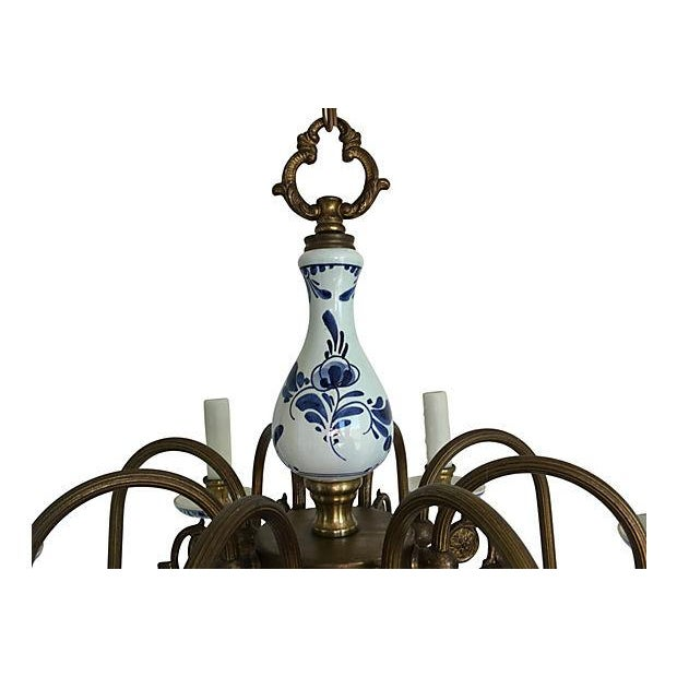Blue & White Porcelain Chandelier - Image 3 of 8