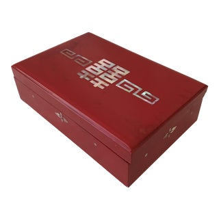 Chinoiserie Red Lacquer Box