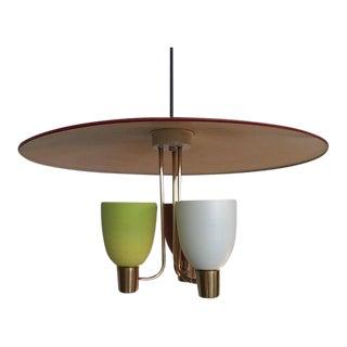 Vintage 60s Atomic Italian Style Pendant Light