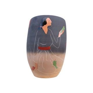 R.C. Gorman Oversized Ceramic Vase