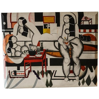 Mid-Century Painting after Fernand Leger
