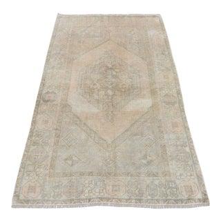 Muted Vintage Anatolian Beige Rug - 3′5″ × 6′1″