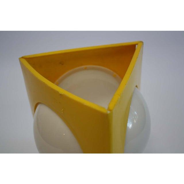 Mid-Century Mod Plastic Triangle Lamp - Image 7 of 10
