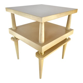 Mid-Century Modern Lane Style Blond Wood Side Table